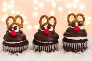 cupcake al cioccolato natalizi